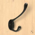 Kapstokhaak zwart Mono
