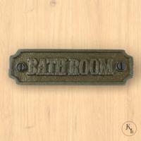 "Naamplaatje ""Bathroom"""