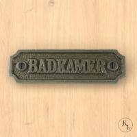 """Naamplaatje """"Badkamer"""""""